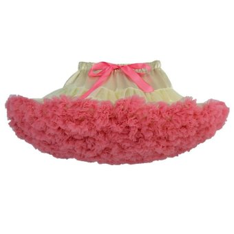 Harga Baby Girls Tutu Skirt Fluffy Children Ballet Kids Pettiskirt Baby Girl Skirts Princess Tulle Party Dance Skirts For Girls L17184 (Hotpink) - intl