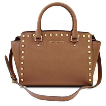 Harga MICHAEL KORS SELMA MEDIUM SATCHEL WITH STUD (LUGGAGE)