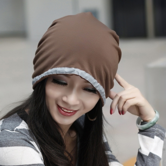 Harga Ms. korea daisuo baotou cap chemo turban cap hat korean version of the influx of spring and autumn fashion pullover cap month of cap (Coffee color)