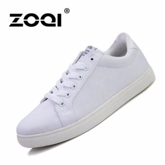 Harga ZOQI man's fashion Sneakers school younger casual canvas shoes(White) - intl