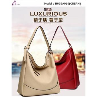 Harga AX Styles 2017 -04 Young Trendy Fashionable Shoulder Lady Bag – H03BA010(CREAM)