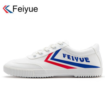 Harga Fei Yue retro canvas shoes men's European and American wind to help low canvas shoes Shoes casual shoes couple models running shoes (43 + 8038 red blue and white)