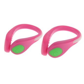 Harga Luminous Shoe Clip Light Night Safety Warning(Pink(Green light))