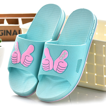 Indoor Female Summer bathroom slippers home slippers (8906 sky blue)
