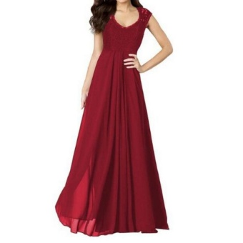 JOJO Womens Long Lace Evening Party Ball Gown Prom Bridesmaid Dress - intl