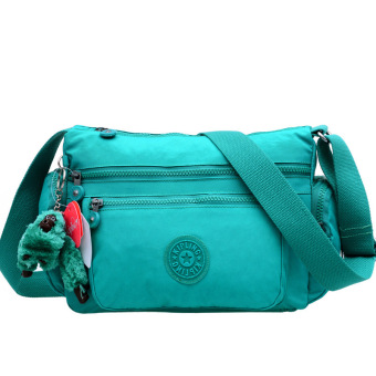 Kipling style style women's Shoulder Bags Canvas messengerbag(green)
