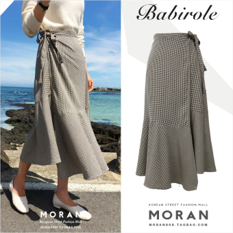 Korean-style autumn New style high-waisted half-length skirt