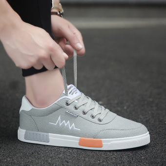 Harga Korean-style canvas Teenager men shoes trendy shoes (6636 gray)
