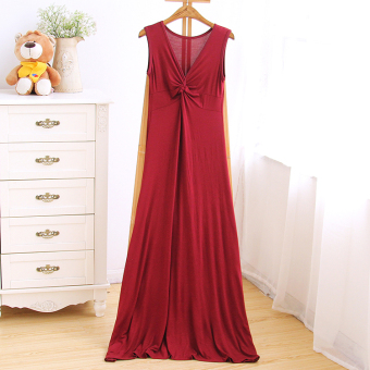 Korean-style New style Slim fit slimming waist hugging dress (Red wine) (Red wine)