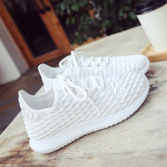 Korean-style White autumn New style soft bottom shoes running shoes (White)