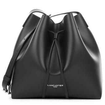 Lancaster Smooth Leather Small Bucket Bag (Black)