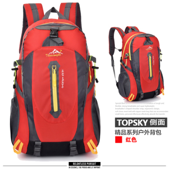 Large Capacity Travel backpack Outdoor Climbing bag (Color red)