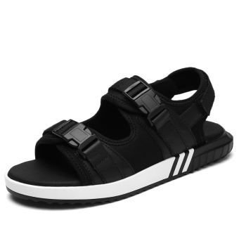 Leather men's Teenager High School Students beach shoes children sandals