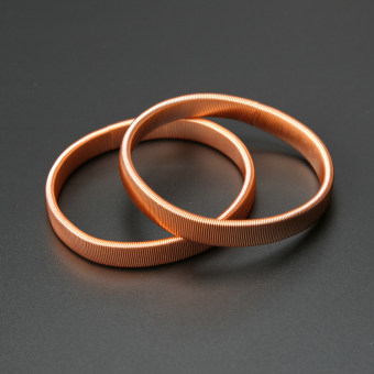 Legendary gold pressure solid spring ring armbands (Rose gold) (Rose gold)