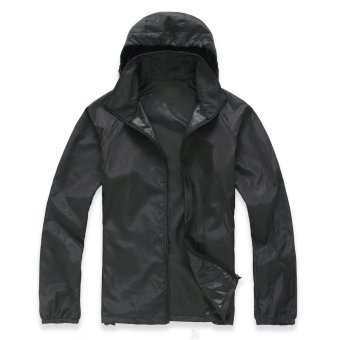 Lightweight Outdoor Sports Sunscreen Windbreaker Jacket (Black ...