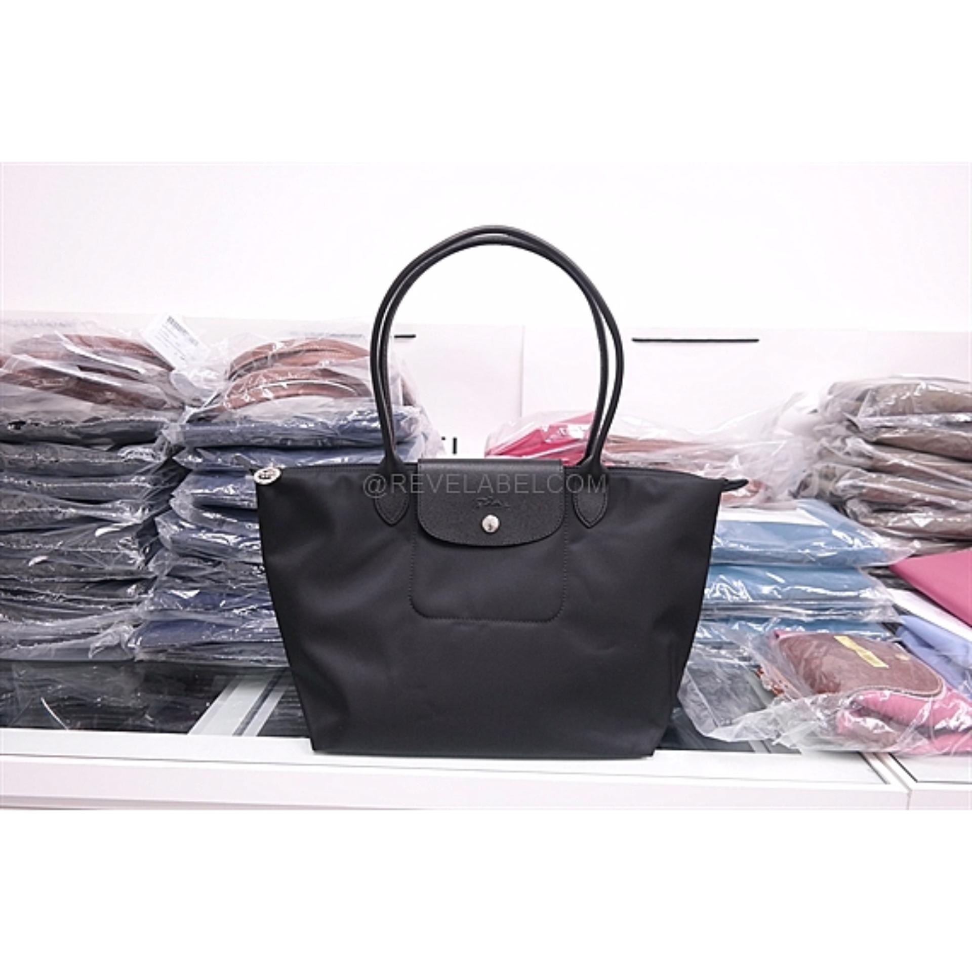 Longchamp Le Pliage Neo Long Handle Small Black 2605 578 001 Singapore Authentic