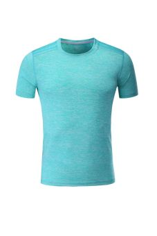 Male quick-drying breathable fitness color multi-looseshort-sleeved t-shirt (Short sleeve green) (Short sleeve green)