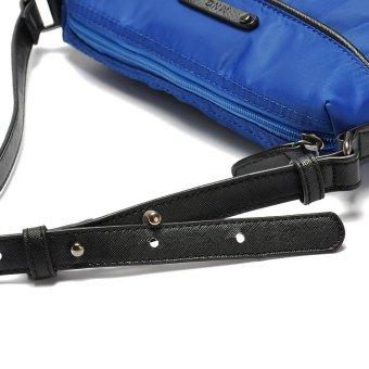 MANGO MNG Lightweight Nylon Pleated Sling / Cross BodyBag (Black) - 5