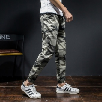 Harga Men fall thin section tooling casual pants HarLan pants (Light camouflage)