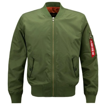 Men Flight Jacket Military Air Force Bomber Jacket (Army Green ...