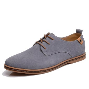 Men shoes 2017 New suede leather fashion winter (Gray)