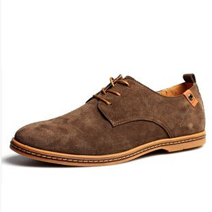 Men shoes 2017 New suede leather fashion Winter4748 (Pale khaki)
