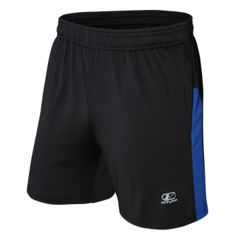 Men Sports Fitness thin breathable loose basketball shorts (Black/blue)