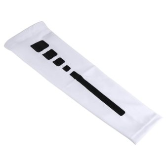 Men Women Compression Arm Sleeves Elbow Support Protector (White M) - intl