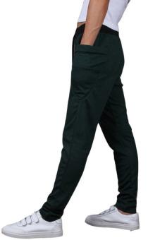 Men's Big Side Pockets Slim Drawstring Jogger Sweatpants (Green) - 3