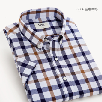 MJX summer New style plaid shirt men's business casual shirtshort-sleeved Korean-style Teenager Slim fit-inch clothes (6606)