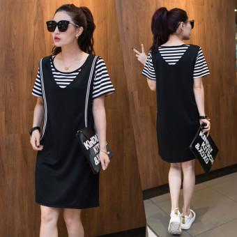 MM fashion loose Slimming effect shoulder strap skirt two-piece dress - 2