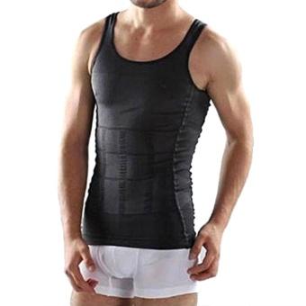 81364cb8ae5b6 Moonar Fashion Men Body Slim Tummy Shaper Belly Underwear Shapewear Waist  Girdle Shirt Vest ( Black