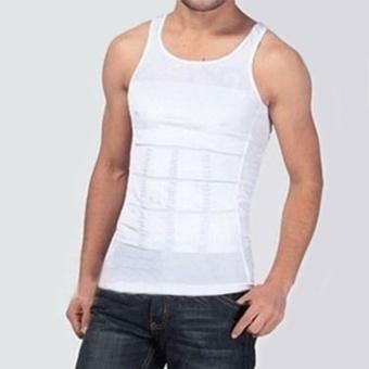 16794a68a6d01 Moonar Fashion Men Body Slim Tummy Shaper Belly Underwear Shapewear Waist  Girdle Shirt Vest ( White