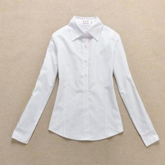 Ms. New style Slim fit career cotton shirt long-sleeved white shirt