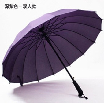 New style men's long-handled umbrella rain or shine umbrella (Deep Purple-double Models)