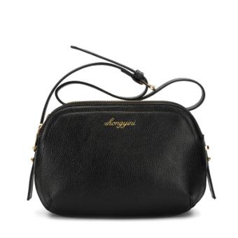 New style summer messenger shell Korean-style Leather small bag (Black)
