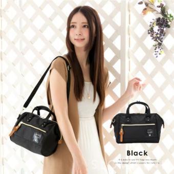 original anello 2 way boston bag shoulder bag (mini size, Black color) - 2