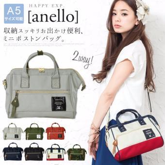 original anello 2 way boston bag shoulder bag (mini size, Black color) - 3