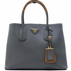 995770a31a70 Prada Saffiano Cuir Double Bag (Marmo/Caramel) Singapore