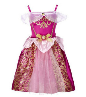 Princess Dress Children Clothing Girl's Dress Magenta