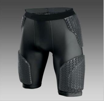 Protective waist honeycomb-like basketball slim fit clothing (Black Bull pants) (Black Bull pants)
