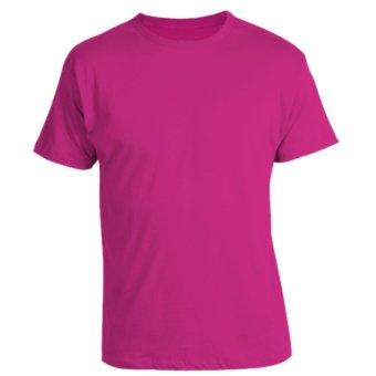 Harga REMME 100% Supima Cotton Round Neck T-Shirt (Fuchsia Pink Purple)