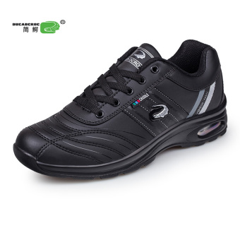 Simple men crocodile men's shoes versatile sports shoes (Black 605) (Black 605)