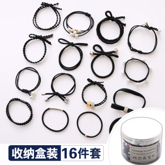 Simple Sets of rubber band adult hair band hairband (2050 # dignified Black Series) (2050 # dignified Black Series)