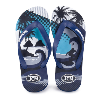 Slippers Men flip flops drag summer outdoor tide drag beach shoes non-slip wear and home bathroom shower sandals and slippers (303 blue)