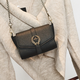 Small Square Korean-style female New style mini chain bag small bag (Light Brown)