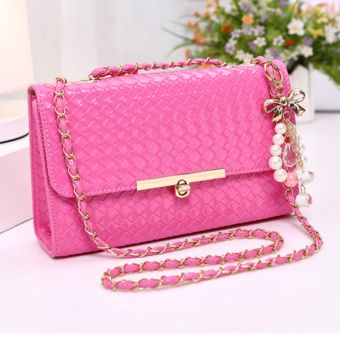 Small Square Korean-style mini chain bag small bag (Rose large with ornaments)