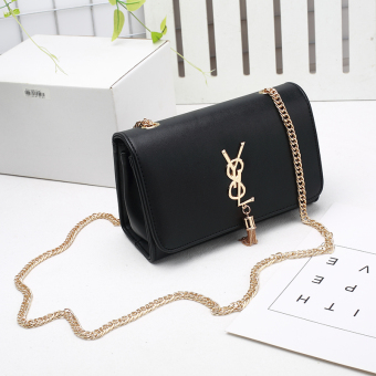Small Square New style chain small bag (Black)