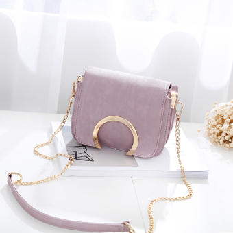 Small Square Shishang chain bag women's bag mini small bag (Purple)
