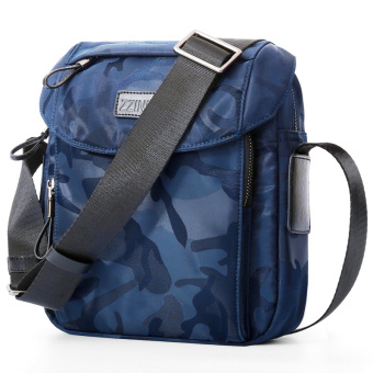 Sports canvas bag men's messenger bag casual shoulder bag (Camouflage light blue)